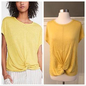 Lou & Grey LOFT Tie Twist Linen Shirt